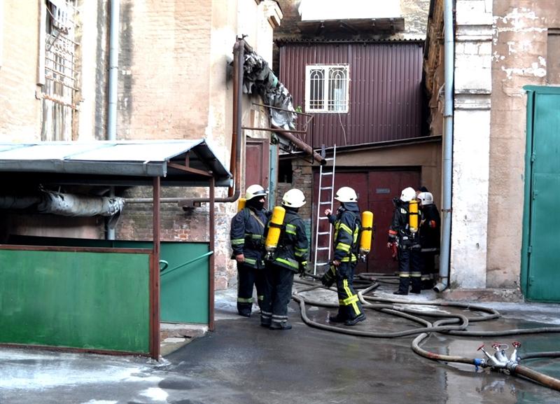 В одесском мореходном училище произошел пожар