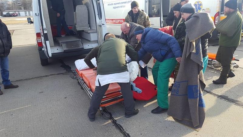 В Одессу прилетел борт с ранеными АТО-шниками