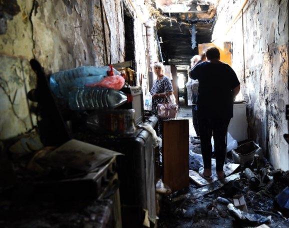 Жители дома в центре Одессы остались без крыши над головой